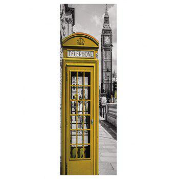 London Telephone Booth Print DIY Fridge Sticker - multicolor 1PC:24*71 INCH( NO FRAME )