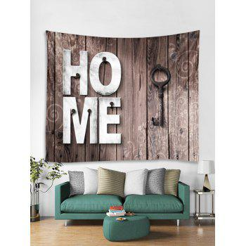 Home Wooden Key Pattern Tapestry Decoration - CAMEL BROWN W91 INCH * L71 INCH