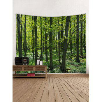 Forest Pattern Tapestry Decoration - SEAWEED GREEN W79 INCH * L59 INCH