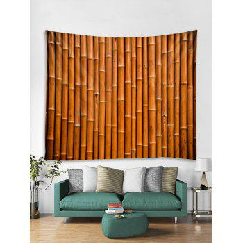 Bamboo Pattern Tapestry Decoration - LIGHT BROWN W79 INCH * L59 INCH