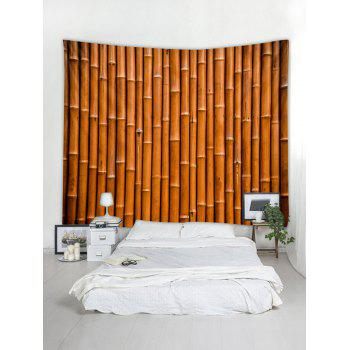 Bamboo Pattern Tapestry Decoration - LIGHT BROWN W59 INCH * L59 INCH