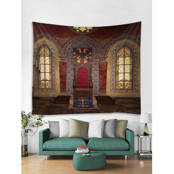 Vintage House Print Tapestry Wall Art - multicolor W79 INCH * L71 INCH