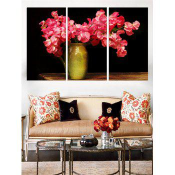 Flower Vase Print Unframed Canvas Paintings - multicolor 3PC:16*24INCH(NO FRAME)