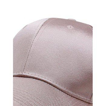 Solid Color Shimmer Shine Graphic Hat - KHAKI ROSE