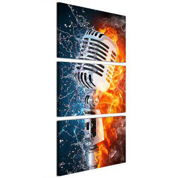 Microphone Art Print Unframed Canvas Paintings - multicolor 3PC:16*24INCH(NO FRAME)