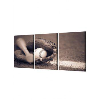 Baseball Print Unframed Canvas Paintings - multicolor 3PC:16*24INCH(NO FRAME)