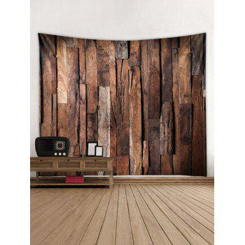 Uneven Wooden Texture Print Wall Tapestry - BLOOD RED W59 INCH * L51 INCH