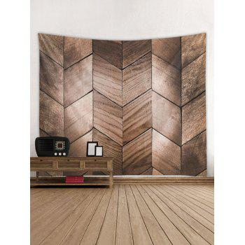 Rhombic Wood Pattern Wall Tapestry - ROSY FINCH W59 INCH * L59 INCH