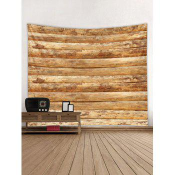 Horizontal Wooden Planks Print Wall Hanging Tapestry - WOOD W59 INCH * L51 INCH