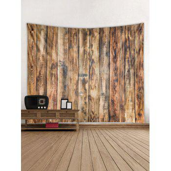 Vintage Vertical Wood Board Print Wall Hanging Tapestry - WOOD W59 INCH * L51 INCH