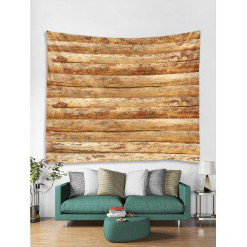 Horizontal Wooden Planks Print Wall Hanging Tapestry - WOOD W79 INCH * L59 INCH