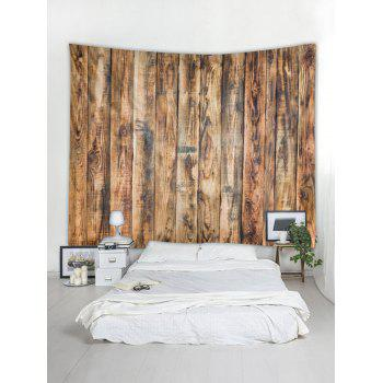 Vintage Vertical Wood Board Print Wall Hanging Tapestry - WOOD W59 INCH * L59 INCH