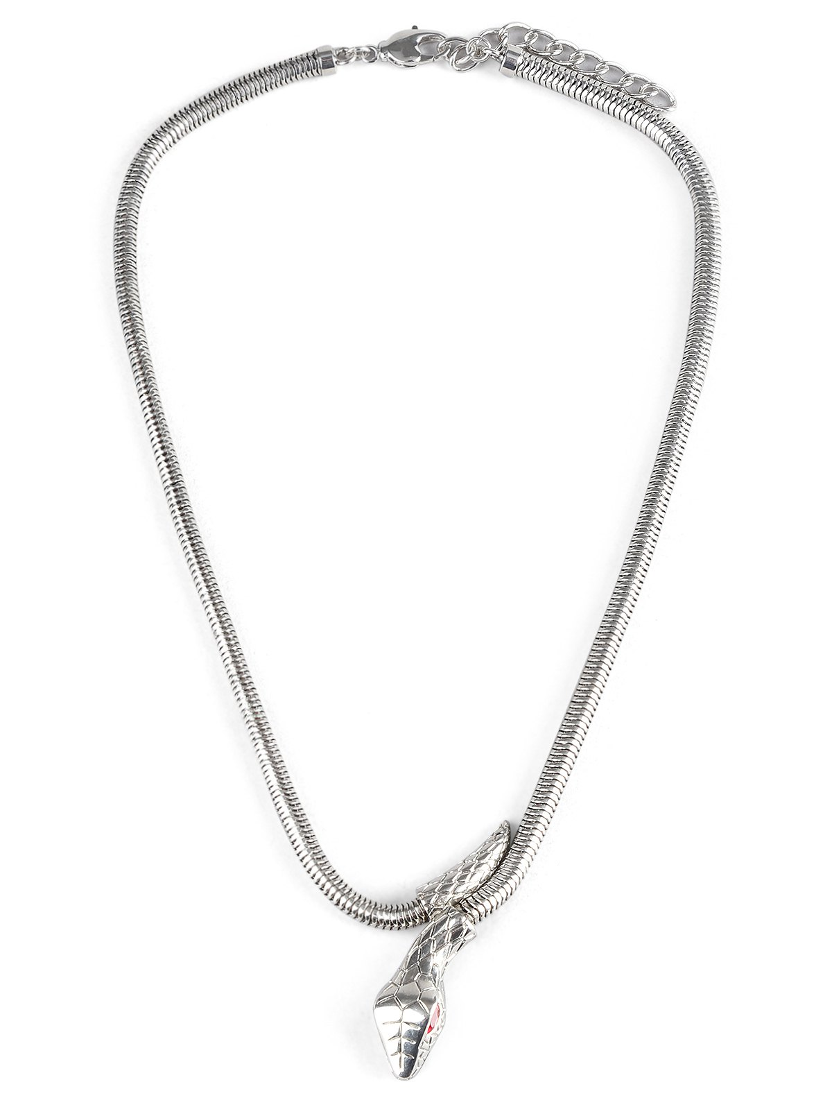 Snake Designed Alloy Necklace - SILVER