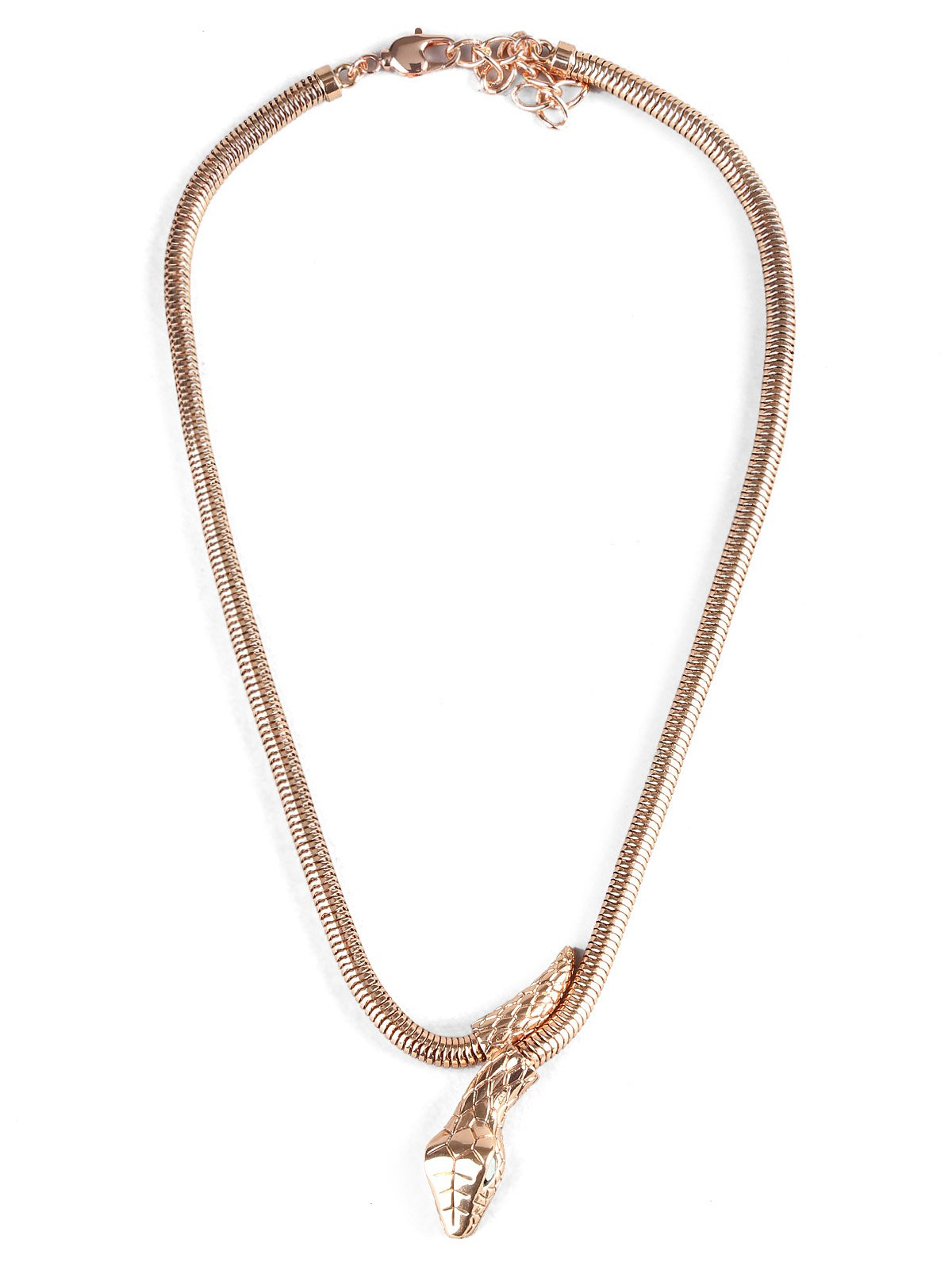 Snake Designed Alloy Necklace - ROSE GOLD