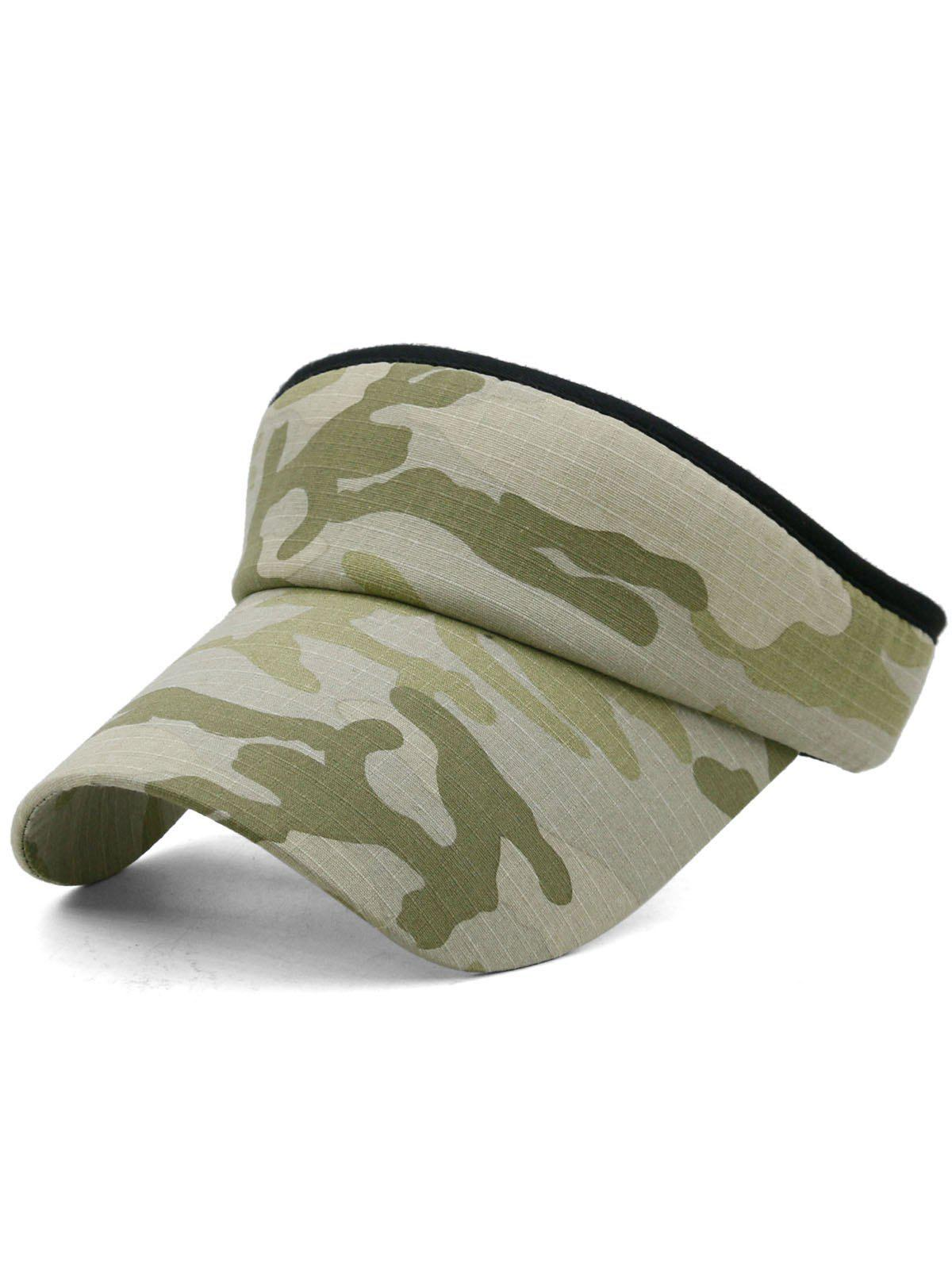 Camouflage Printed Open Top Sport Hat - multicolor C