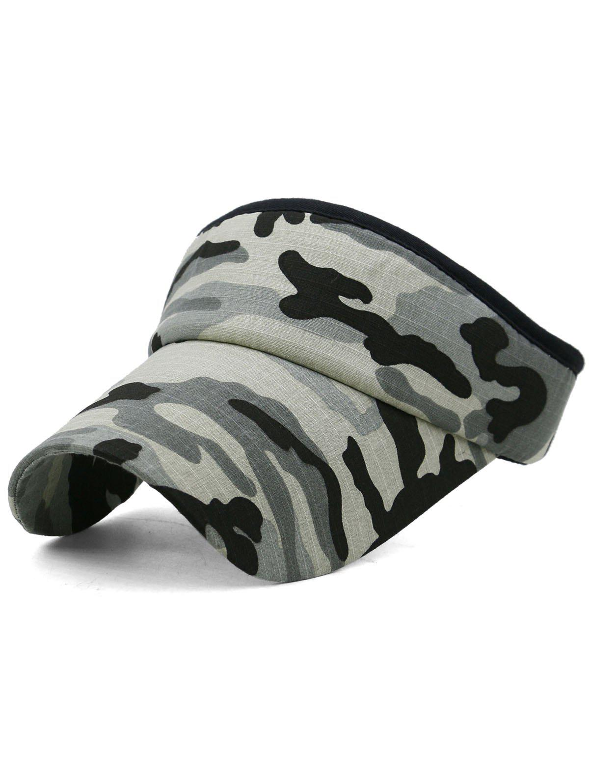 Camouflage Printed Open Top Sport Hat - multicolor E