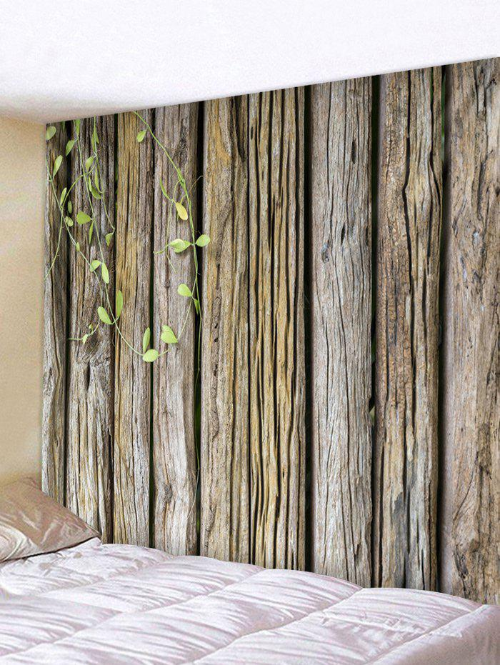 Green Vine Wood Grain Print Wall Hanging Art Tapestry - DARK GRAY W59 INCH * L59 INCH