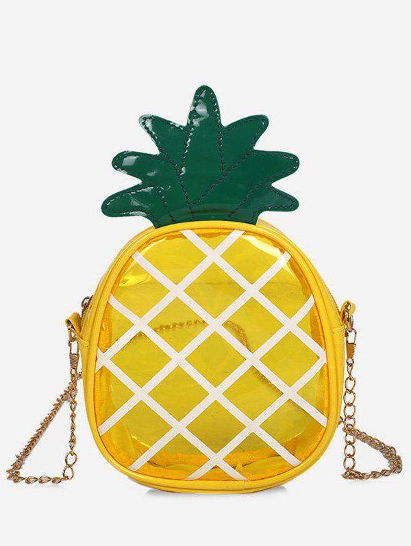 Lucid Jelly Pineapple Shaped Quilted Sling Bag - BEE YELLOW