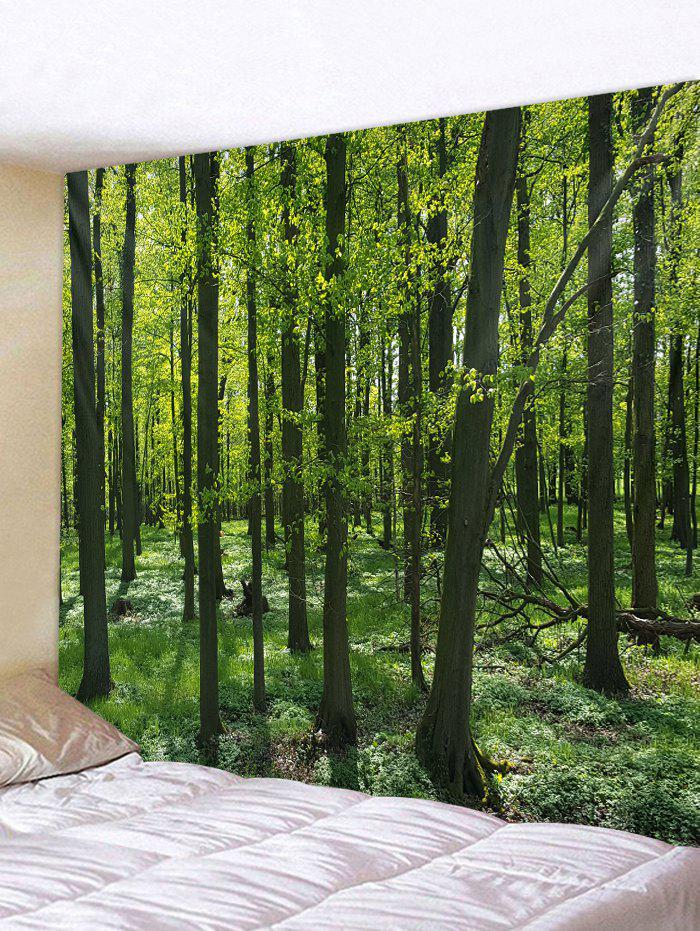 Forest Pattern Tapestry Decoration - SEAWEED GREEN W79 INCH * L71 INCH