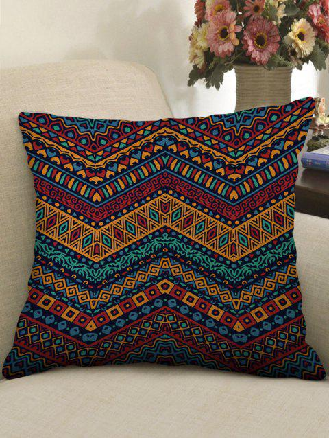 Ethnic Print Decorative Linen Pillowcase - multicolor W18 INCH * L18 INCH