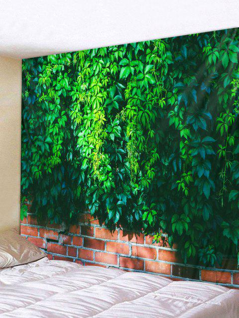 Vine Brick Wall Pattern Tapestry Hanging Decor - DEEP GREEN W91 INCH * L71 INCH