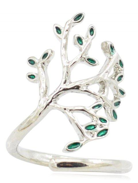Vintage The Tree of Life Cuff Ring - SILVER