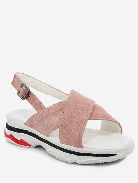 Plus Size Crisscross Leisure Platform Sandals - PINK 41