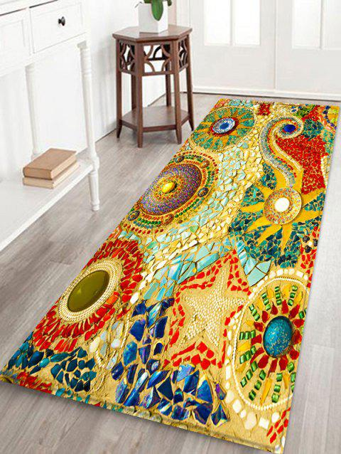 Boho Style Home Decor Flannel Area Rug - GOLDEN BROWN W16 INCH * L47 INCH