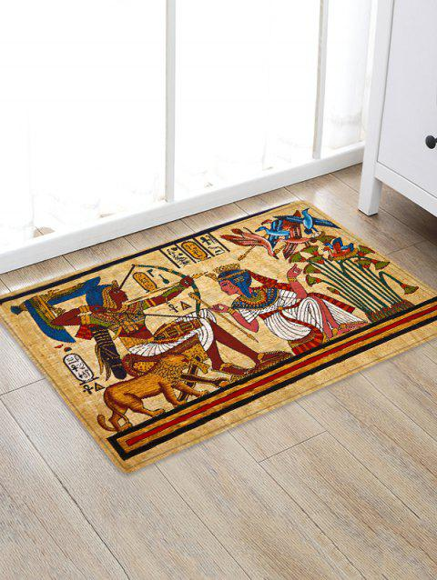 Antique Egypt Printed Skidproof Flannel Bathroom Rug - multicolor W20 INCH * L31.5 INCH