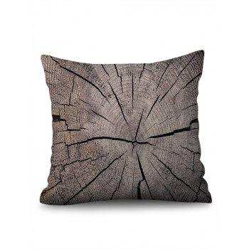 Tree Growth Ring Print Linen Sofa Pillowcase - multicolor W18 INCH * L18 INCH