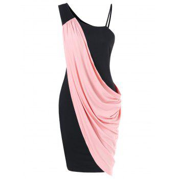 One Shoulder Overlay Bodycon Dress
