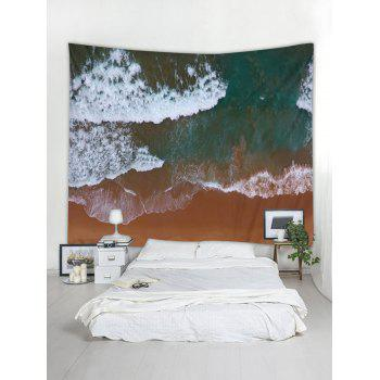 Clay Seaside Pattern Wall Tapestry Hanging Decor - multicolor W91 INCH * L71 INCH