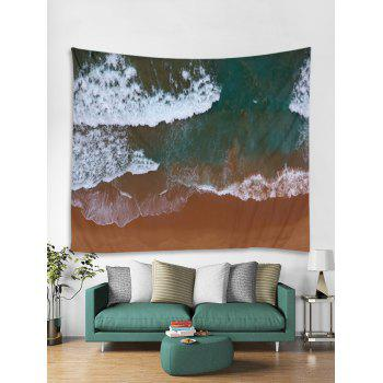 Clay Seaside Pattern Wall Tapestry Hanging Decor - multicolor W71 INCH * L71 INCH