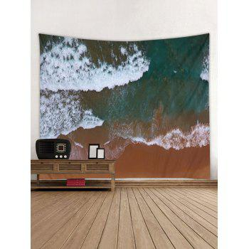 Clay Seaside Pattern Wall Tapestry Hanging Decor - multicolor W79 INCH * L71 INCH