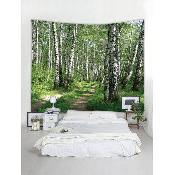 Woods Pattern Wall Tapestry Hanging Decor - multicolor W91 INCH * L71 INCH