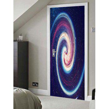 Galaxy Vortex Print Door Stickers - multicolor 38.5*200CM*2PCS