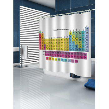 Periodic Table of Elements Bathroom Shower Curtain - WHITE W71 INCH * L71 INCH