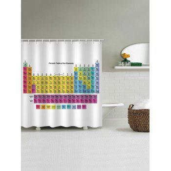 Periodic Table of Elements Bathroom Shower Curtain - WHITE W59 INCH * L71 INCH