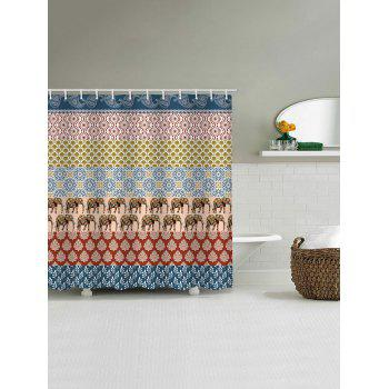Bohemia Printed Stall Shower Curtain - multicolor W71 INCH * L79 INCH