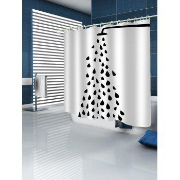 Open Shower Nozzle Pattern Shower Curtain - WHITE W59 INCH * L71 INCH