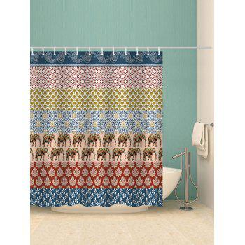 Bohemia Printed Stall Shower Curtain - multicolor W71 INCH * L71 INCH