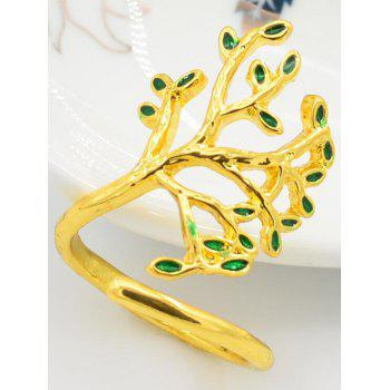 Vintage The Tree of Life Cuff Ring - GOLD