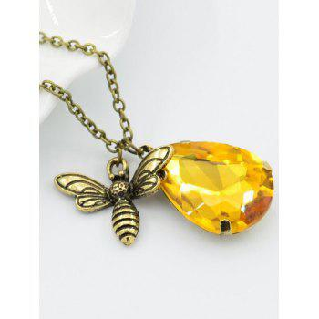 Unique Flying Bee Party Pendant Chain Neckalce - GOLD