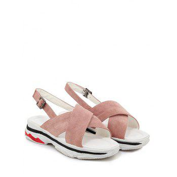 Plus Size Crisscross Leisure Platform Sandals - PINK 39