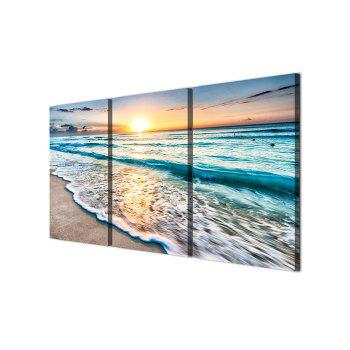 Sunset Beach Print Unframed Canvas Paintings - multicolor 3PC:16*24INCH(NO FRAME)