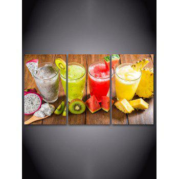 Fruit Juice Printed Unframed Canvas Paintings - multicolor 3PC:16*24INCH(NO FRAME)