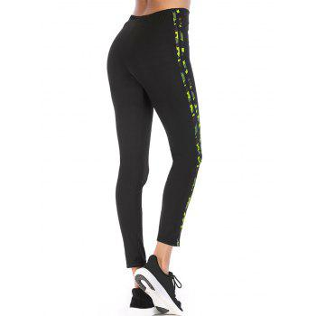 Workout High Waisted Strechy Leggings - BLACK ONE SIZE