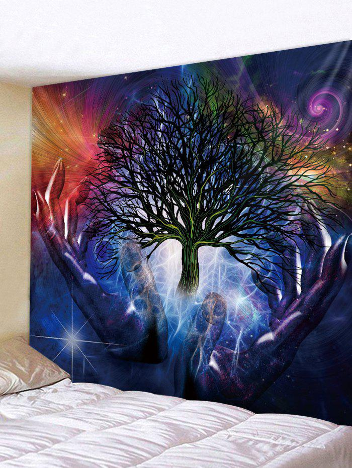 Hand Tree Pattern Tapestry Decoration - multicolor W71 INCH * L71 INCH