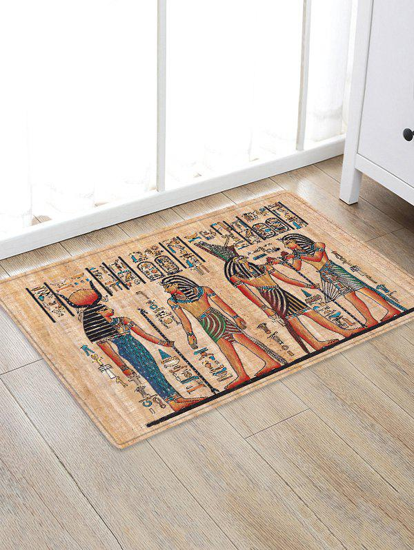 Ancient Egypt Themed Flannel Area Rug - BURLYWOOD W20 INCH * L31.5 INCH