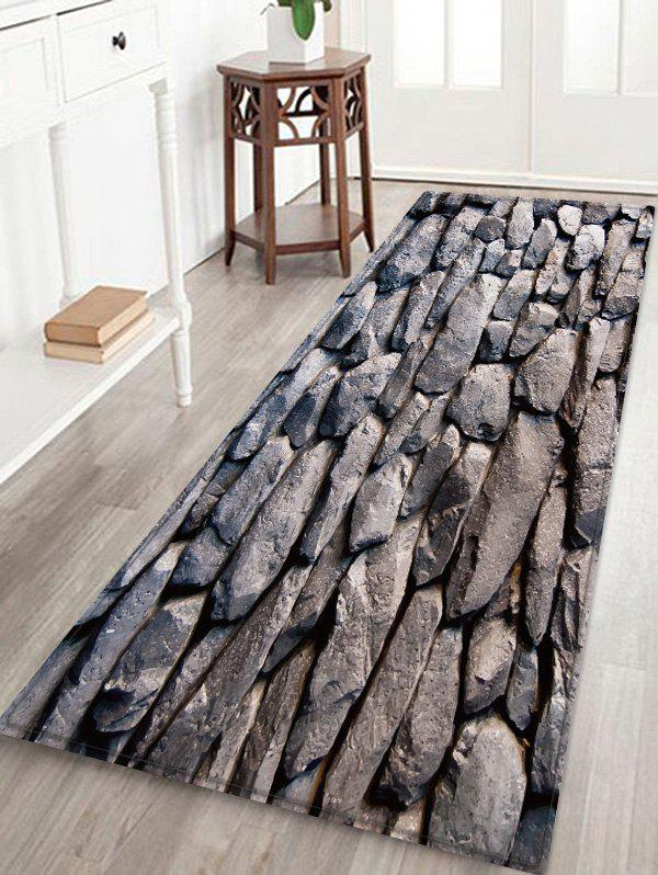Stonewall Shape Flannel Floor Mat - TAUPE W16 INCH * L47 INCH